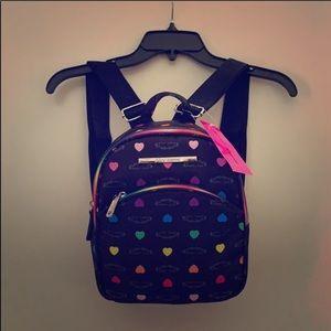 Betsey Johnson Black Heart Backpack